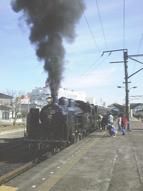 真岡鐵道「SLもおか号」/下館駅にて(この画像はお出かけ旅日記 No.023にあります)
