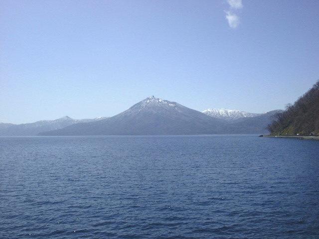支笏湖と恵庭岳