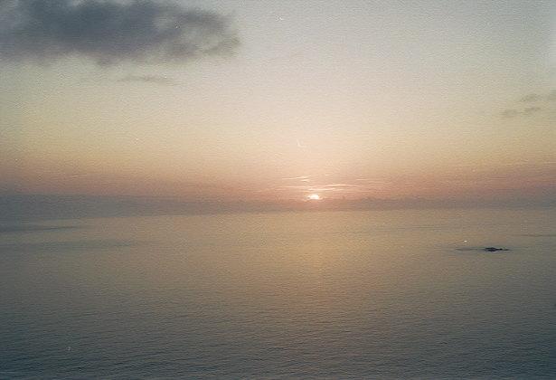 ウェザーステーションからの夕陽(1)