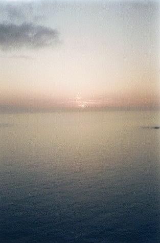 ウェザーステーションからの夕陽(2)