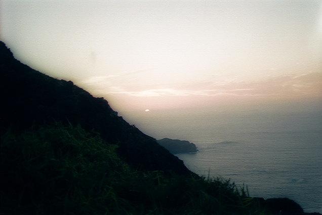 夜明山展望台での夜明け(1)