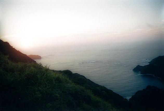 夜明山展望台での夜明け