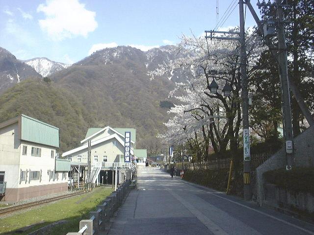 黒部峡谷鉄道 宇奈月駅を望む